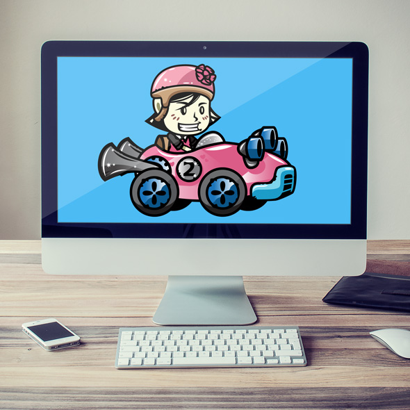 lydia_female_racing_game_character_design_asset_vector_2d