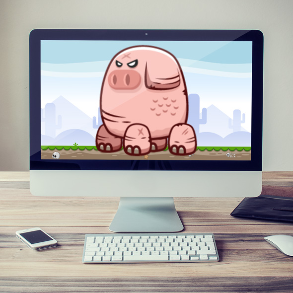 pig monster and bird monster sprites game asset