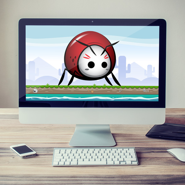 Little Red Beetle Game Asset Sprites