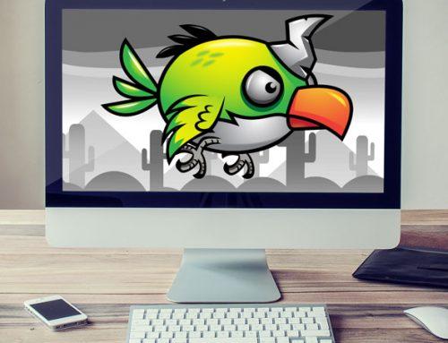 Flappy Bird – Green Feather Sprite