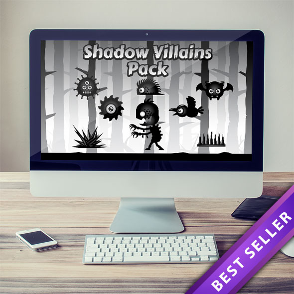 Villain Character Sprite Sheets - Put More Enemies into Your Game