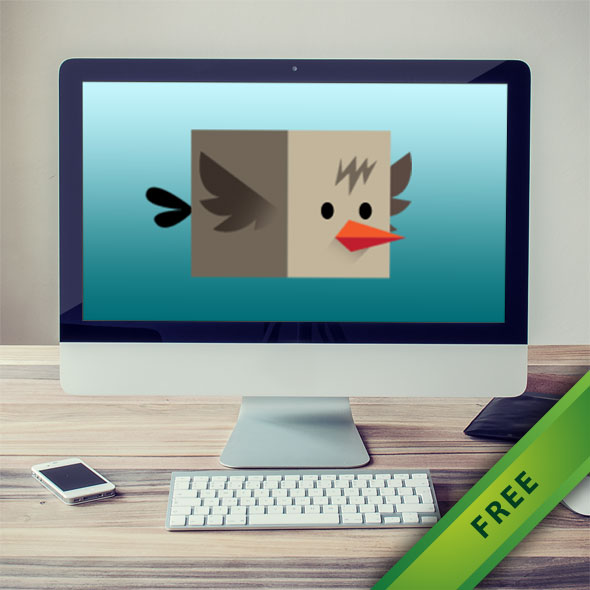 Flappy box bird sprites game asset character