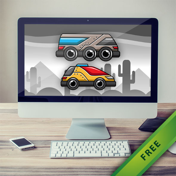 Car And Bus Game Vehicle - 2d free game asset character sprites