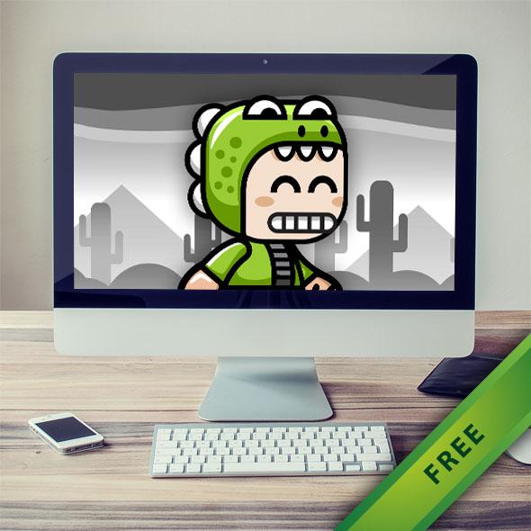 Crocodile Boy Game Character Mascot - 2d free game asset character