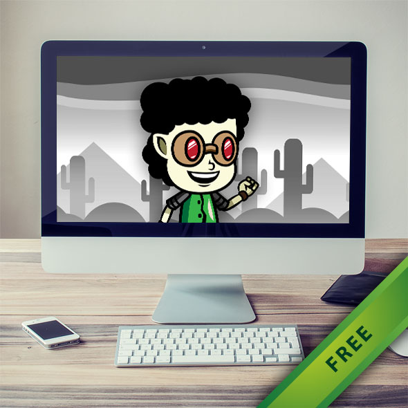 Gogle Boy Game Character - 2d free game asset character sprites