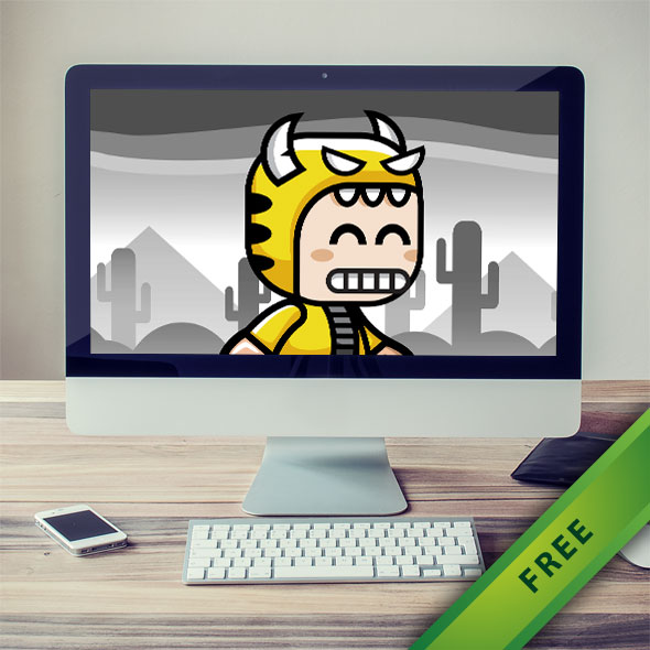 Tiger Horn Game Character - 2d free game asset character