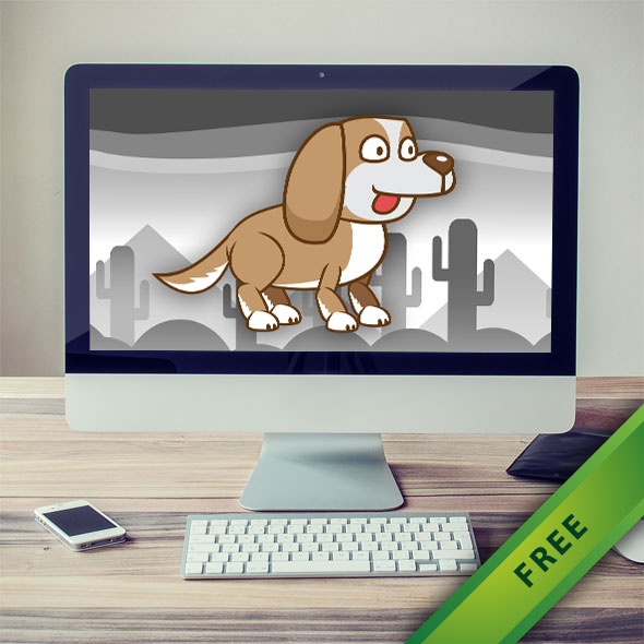 Puppy Dog Game Character - 2d free game asset character