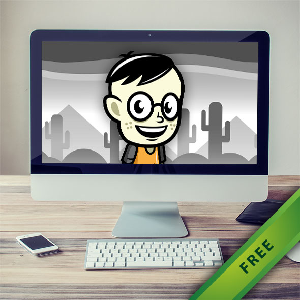 Smart Geek Boy Game Character - 2d free game asset character sprites