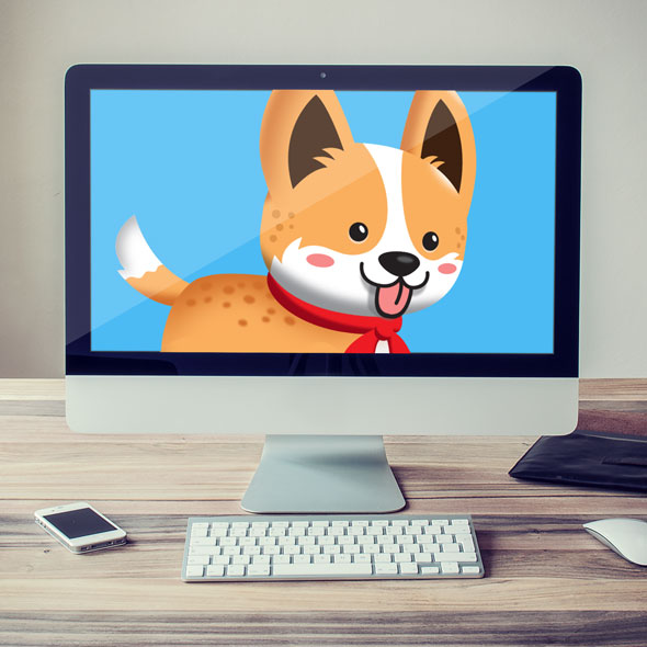Cute corgi sprites game asset for game developers