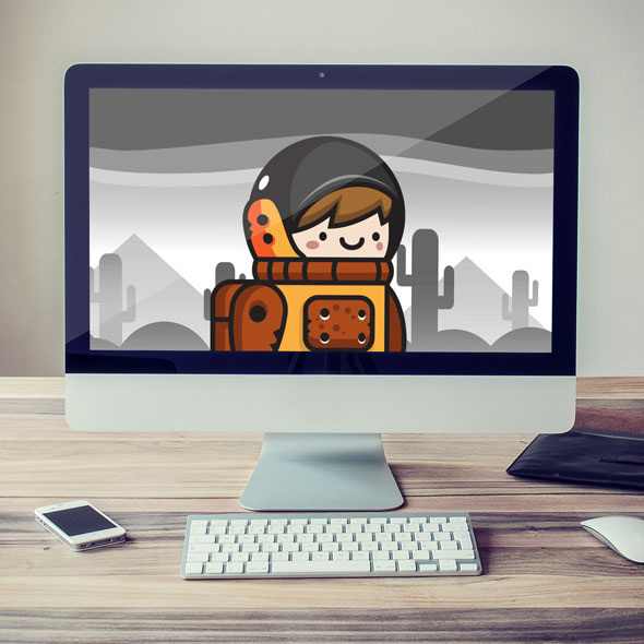 orange-astronaut-game-asset-sprites-cute-character-cartoon