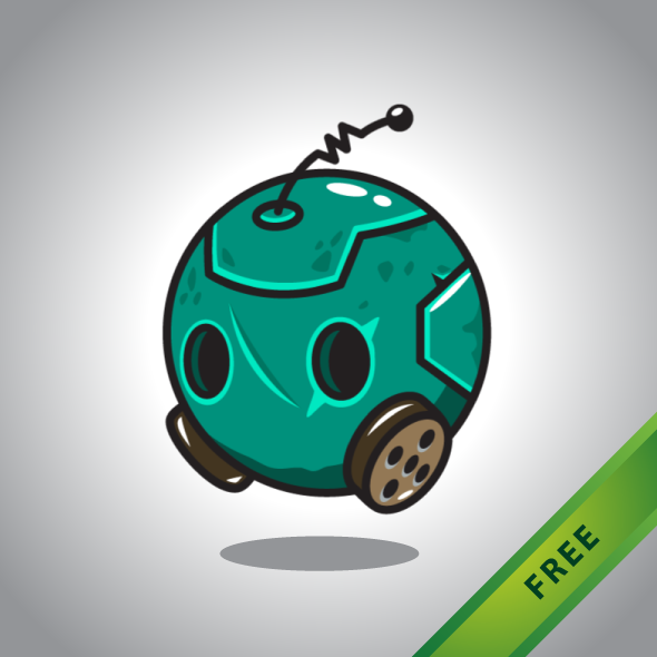 Free 2D Game Asset - Robot Ball Sprites for Indie game developers