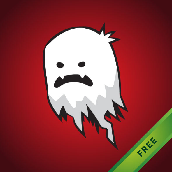 free 2D game asset - spooky ghost sprites for indie game developers.