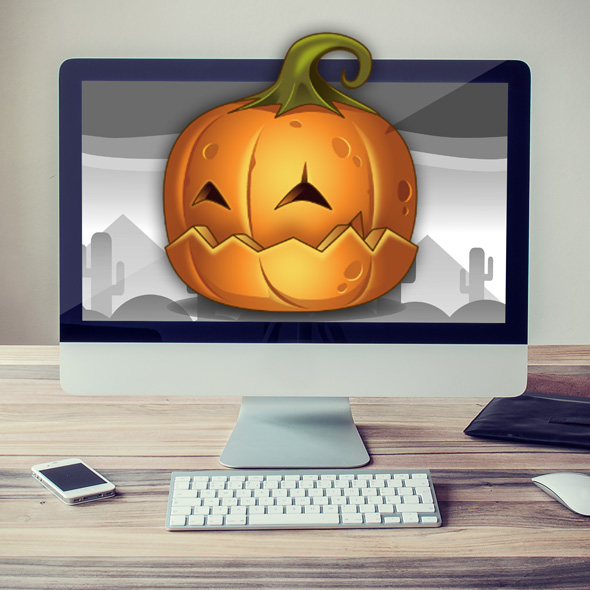 helloween pumpkin monster game asset sprites 2d for game developer halloween