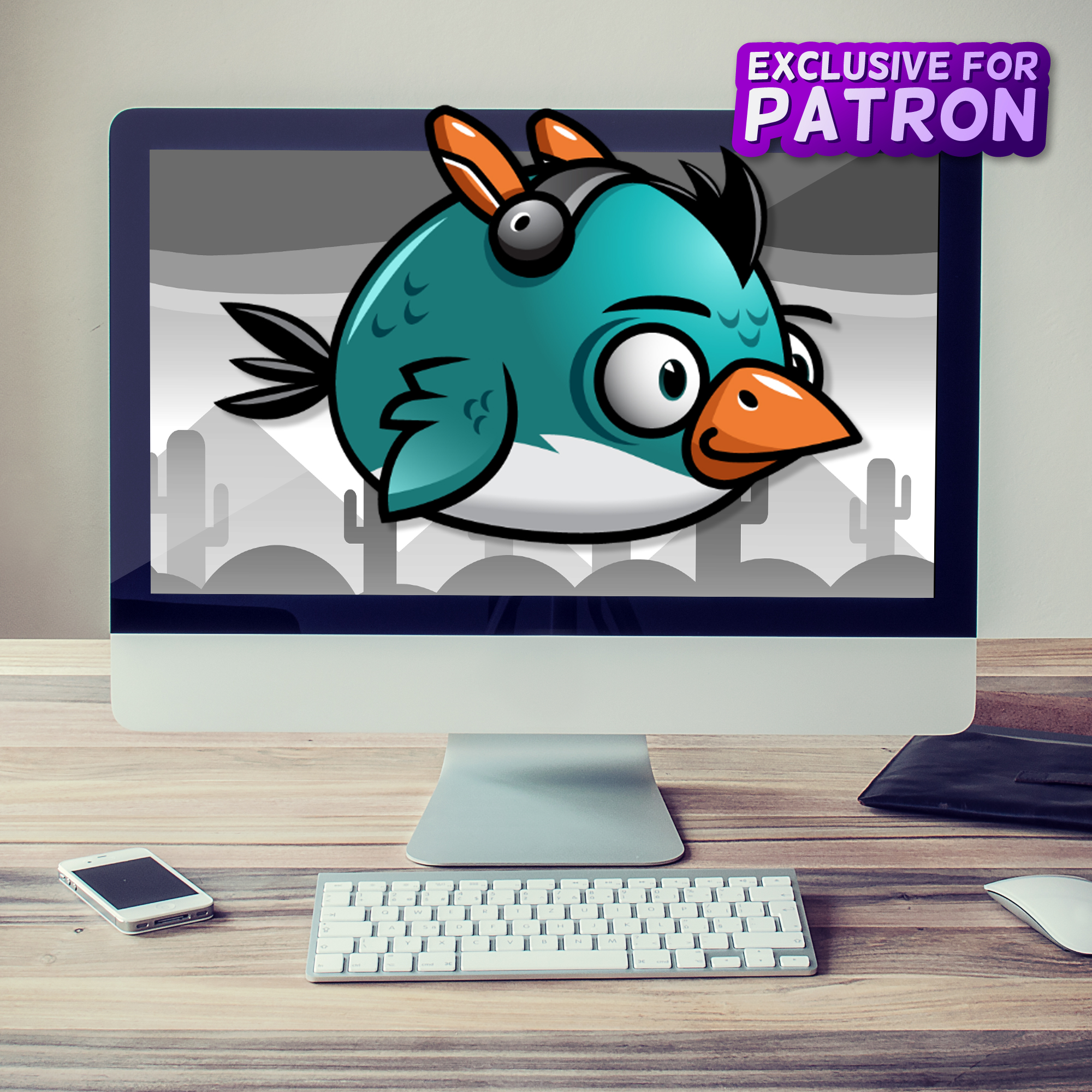 android flappy bird sprites 2d game character only for patron on patreon