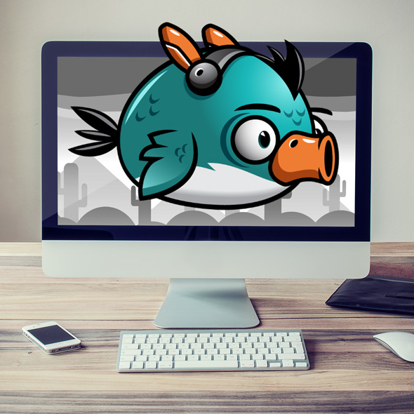 android flappy bird sprites 2d game character
