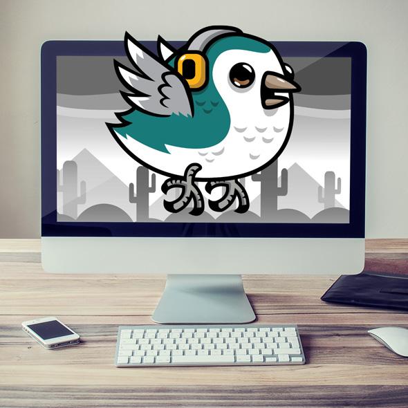 parakeet bird 2d game asset character sprites