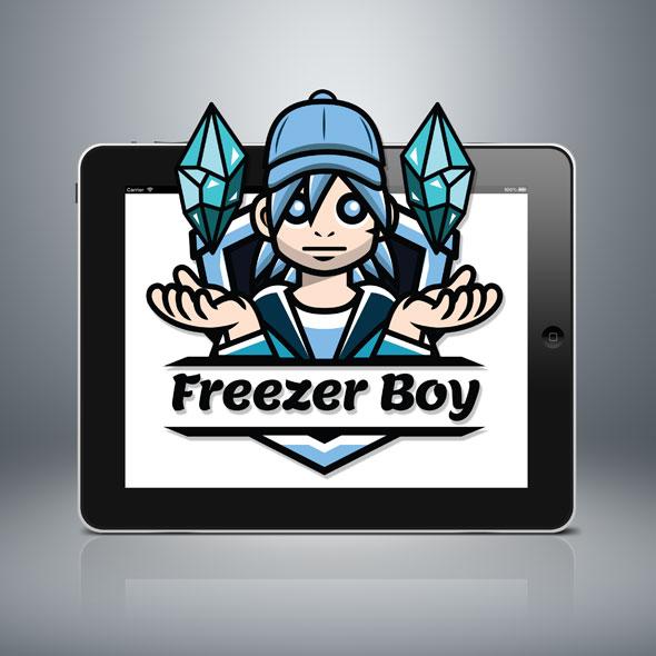 freezer boy streamer logo youtuber logo gamer logo guild squad